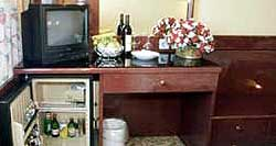 TV, refrigirator and the table