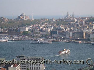 Galata Tower and the golden Horn