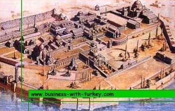 Reconstrucion  imajinaria del grand palacio en Constantinopla
