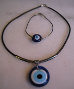 Turkish necklace evil eye amulet